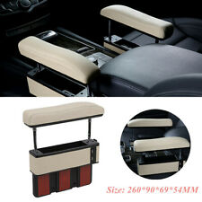 Beige Car Vehicle Driver Seat Pocket Storage Armrest Box Organizer Holder w/ USB