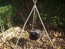 Tripod Chain Campfire Camping Cooking Dutch Oven BushCraft Reenactment Tent