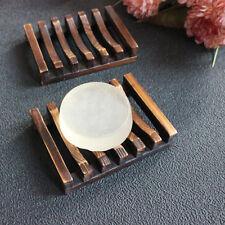 Holz Seifenschale Seifenablage Bambus Seifenhalter Bad Dusche Halterung NEU^