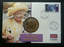 Gibraltar Elizabeth Queen Mother 1998 Royal (coin cover) crease see scan Limited