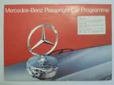 MERCEDES BENZ RANGE orig 1973 UK Mkt Brochure - 600 350 450 SL SLC SE SEL 280