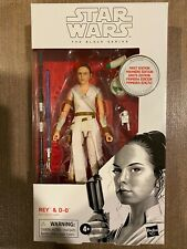 STAR WARS BLACK SERIES REY & D-0 PREMIER EDITION FIRST DAY WHITE BOX MISB