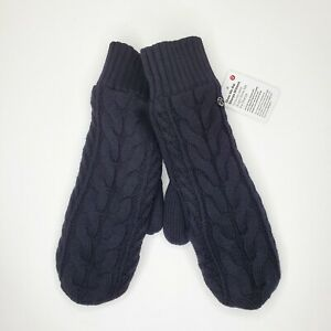Lululemon Women's Show Me The Sherpa Mittens  Black  One Size