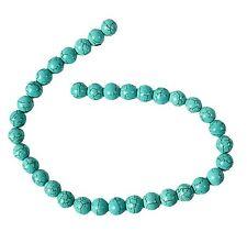 Chaîne de 12mm round turquoise nacres perles pour fabrication de bijoux B36S
