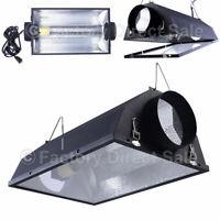 "6"" Air Cooled Hood Reflector Hydroponics Light Grow Hydroponic W/ Glass Cover"