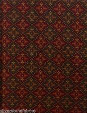 Imported German Tapestry Upholstery Fabric Alpine Flowers Brick 21 yds GU1-c21