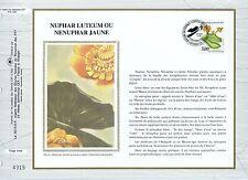 FEUILLET CEF / DOCUMENT PHILATELIQUE / NUPHAR LUTEUM / 1992 NANTES
