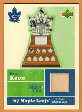 2007-08 , UPPER DECK , DAVE KEON , MEMORABILIA , (67 MAPLE LEAFS) , STICK CARD