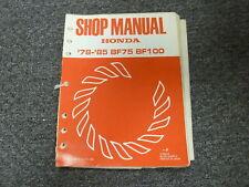1978 1979 1980 1981 1982 Honda BF75 & BF100 Outboard Motor Service Repair Manual