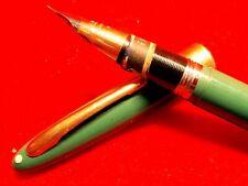 Sheaffer's White Dot Fountain Pen Green 14 KT Nib Fine