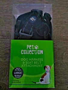 Large Pet Collection Dog Harness & Seat Belt Harness 49-84cm Chest