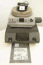 Kodak Ektagraphic III E projector with Apollo zoom, case, remote, and extra bulb