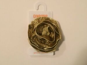 Gymboree STAR OF THE SHOW Glittery Gold Rosette Hair Clip ~ NWT!