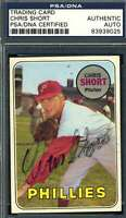 Chris Short PSA DNA Coa Autograph 1969 Topps Hand Signed