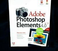 Adobe Photoshop Elements 4.0 for PC Windows XP - New Sealed