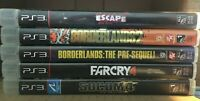 PS3 Playstation 3 ~ 5 Game Lot! Borderlands x2 Farcry See pics Free SHIPPING!!!!