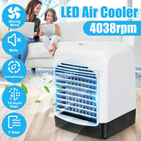 3 Speed USB Mini Cooling Cooler Fan Table Desk Timer Air Conditioner Office Home