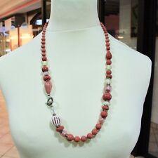Collar Antica Murrina Venezia corallina Coa06a25 vidrio rojo