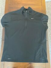 Nike 1/4 Zip Pullover Mens Size Large - Black - Nike Fit