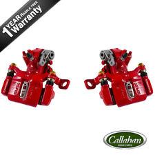 2 Rear Red Brake Calipers For Acura Integra Honda Civic, Civic Del Sol