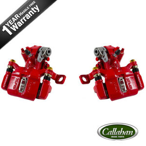 2 Rear Red Brake Calipers For Acura Integra Honda Civic Civic Del Sol