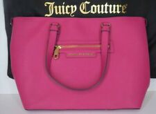 Juicy Couture Tote Handbag Shopper Bag NEW Leather Large L Pink Stud Handled Zip