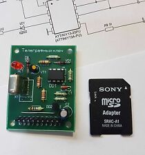 Telegraph CW key on ATTiny13 (assembled unit)