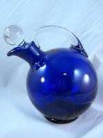 Liquor Genuine Cobalt Glass Pitcher Carafe