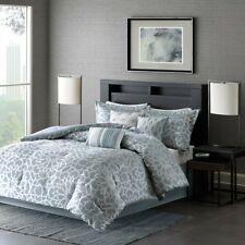 Queen Size Carlow 7 Piece Comforter Set Blue Contemporary Madison Park Mp10-2376