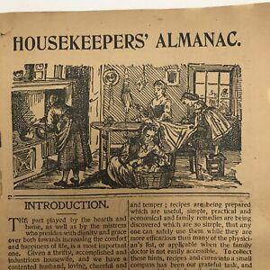 Antique Housekeepers Almanac Philadelphia 1905 Calendar Court Recipes Ads Annual