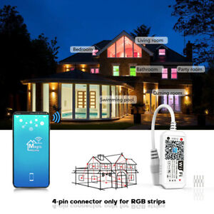 Smart WiFi Remote Controller For RGB LED Strip Light Android IOS Google Alexa