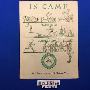 Boy Scout Sheet Music In Camp Piano Solo The Boston Music Co