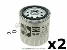 Mercedes w124 w126 w140 Fuel Filter Spin-On Set of 2 MAHLE +1 YEAR WARRANTY