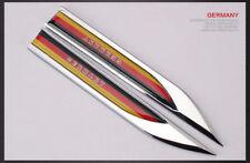 Metal Emblems Badge Decal Car Side Fender Sticker German National Flag 2 pcs USA