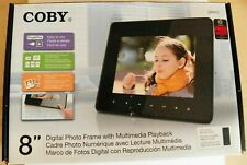 """COBY 8"""" Digital Photo Frame With Multi Media Playback DP870"""