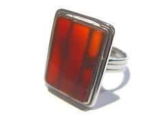 anello corniola - carnelian ring silver 925%