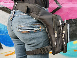 ❤️ Leg Purse Tactical Bag Waist Hip Holster Pouch Belt Black ❤️