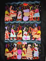 """VILLAGE PEOPLE GET TOGETHER EMBROIDERED FABRIC WALL HANGING - 16"""" x 24"""""""