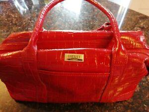 Ladies Osprey London Red Mock Croc Leather Handbag