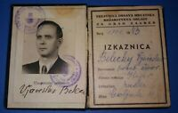 RARE - WWII.- Residence Permit - NDH - Independent State of Croatia (Nazi Ally)