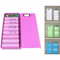 20X(DIY 8x18650 Portable Battery Power Bank Shell Case Box LCD Display Dua P7G6)