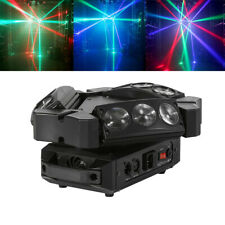 Spider Moving Head Light 9LEDs Beam DJ Lights RGB Sound Activated and DMX-512