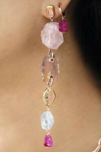 SOLD OUT! Monica Vinader x Caroline Issa Rose Gold Gemstone Earrings RRP375