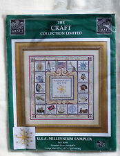 USA MILLENNIUM SAMPLER 2000 Counted Cross Stitch Kit 76476 The Craft Collection