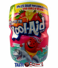 Kool Aid Sharkleberry Fin Drink Mix Makes 8 Quarts 538g Tub Kool-Aid