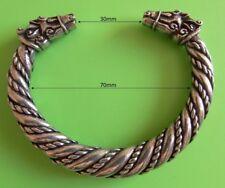 Gran Vikingo Odin's corcel, Sleipnir, sólida plata pulsera de estaño mano hecha a mano