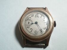 Elgin wrist watch movement, crystal, case, pins, Beautiful Vintage, running, but