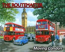 Routemaster London Red Double Decker Bus Big Ben Medium, Metal/Tin Sign, Picture