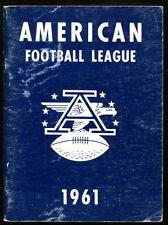 1961 AFL Press Media Guide Rare Excellent Condition