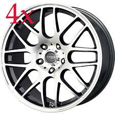 Drag Wheels DR-37 17x7.5 5x120 BMW Gun Metal Mach Face Rims For E36 E46 E30 325